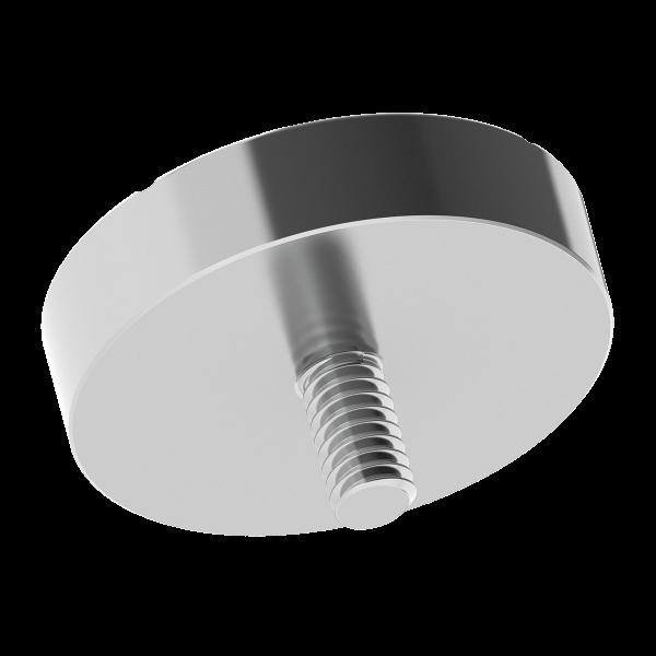 """1.5"""" Ball Probe Seat with 1/4-20 Threaded Pin - 1"""" Offset FARO LEICA API"""