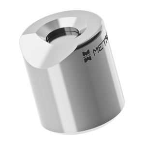 "FARO LEICA API 0.5"" Ball Probe Seat with 1/2"" Pin - 5/16"" Offset -  with Negative Cutout"