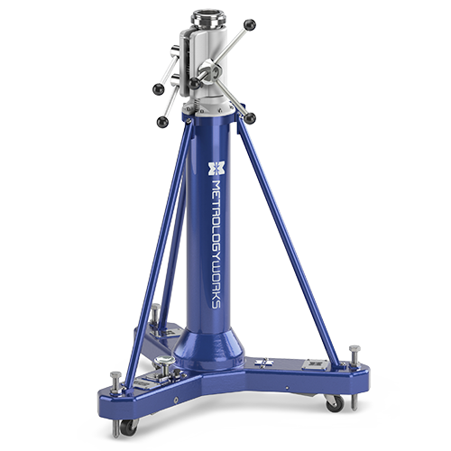 Rolling Metrology Stands, Portable Metrology Tripods, Magnetic Mounts, and Rolling Granite Carts
