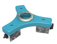 """Economic Magnetic Mount for Portable CMM with 3 1/2"""" threaded ring"""